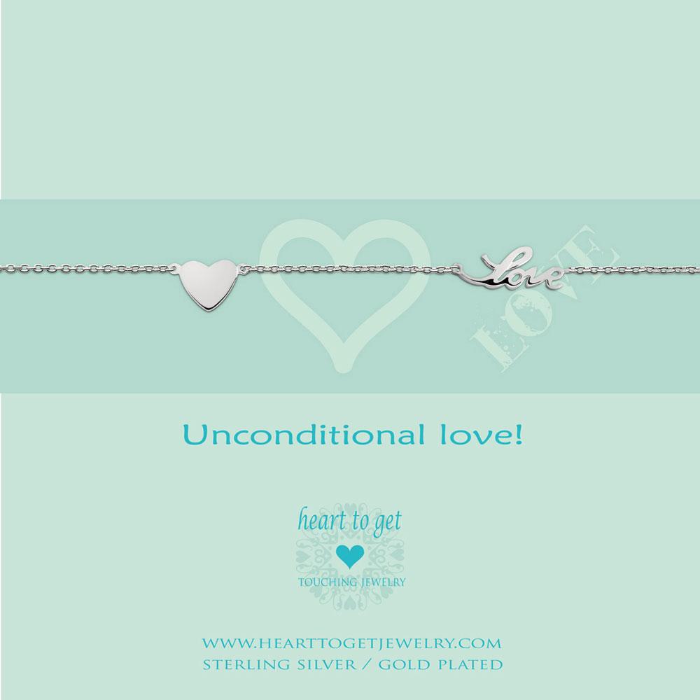 Bracelet heart and love
