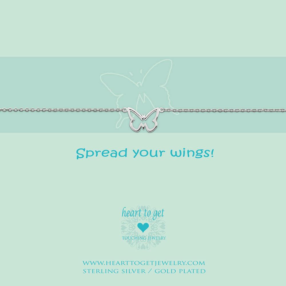 Bracelet open butterfly