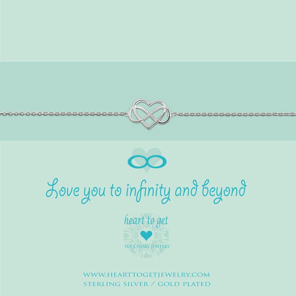 Bracelet infinity heart