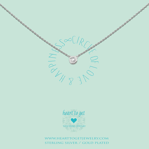 Necklace circle zirkon
