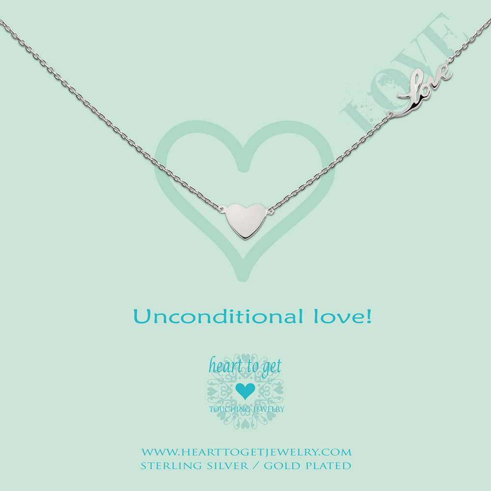Necklace heart and love