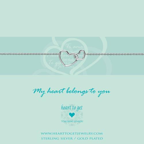 Bracelet entwined hearts