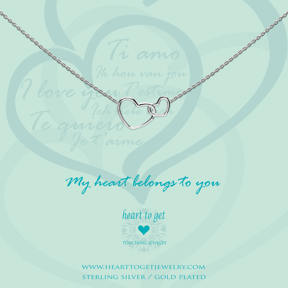 Necklace entwined hearts