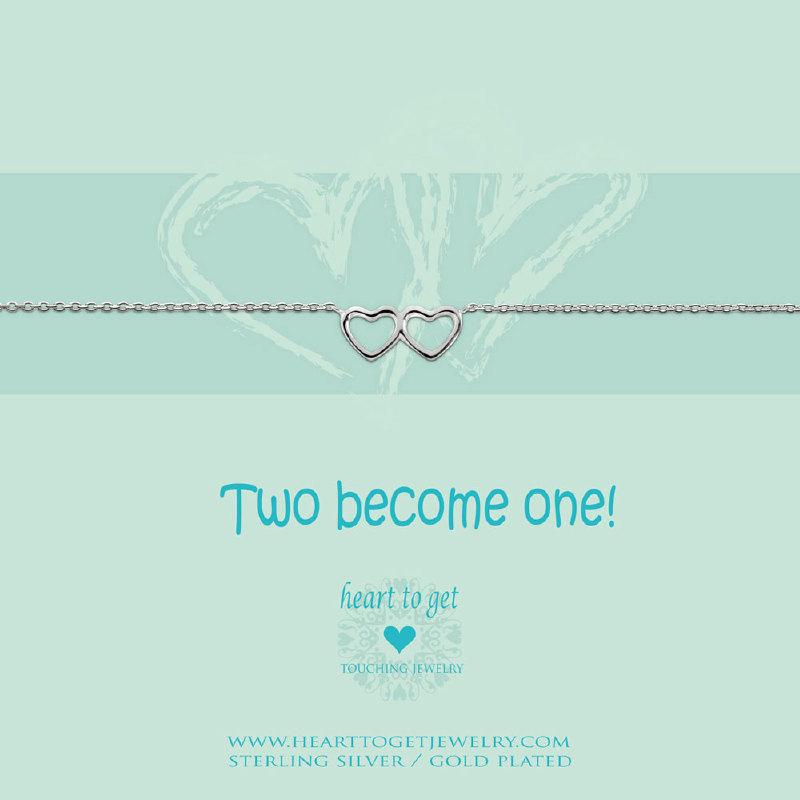 Bracelet double heart