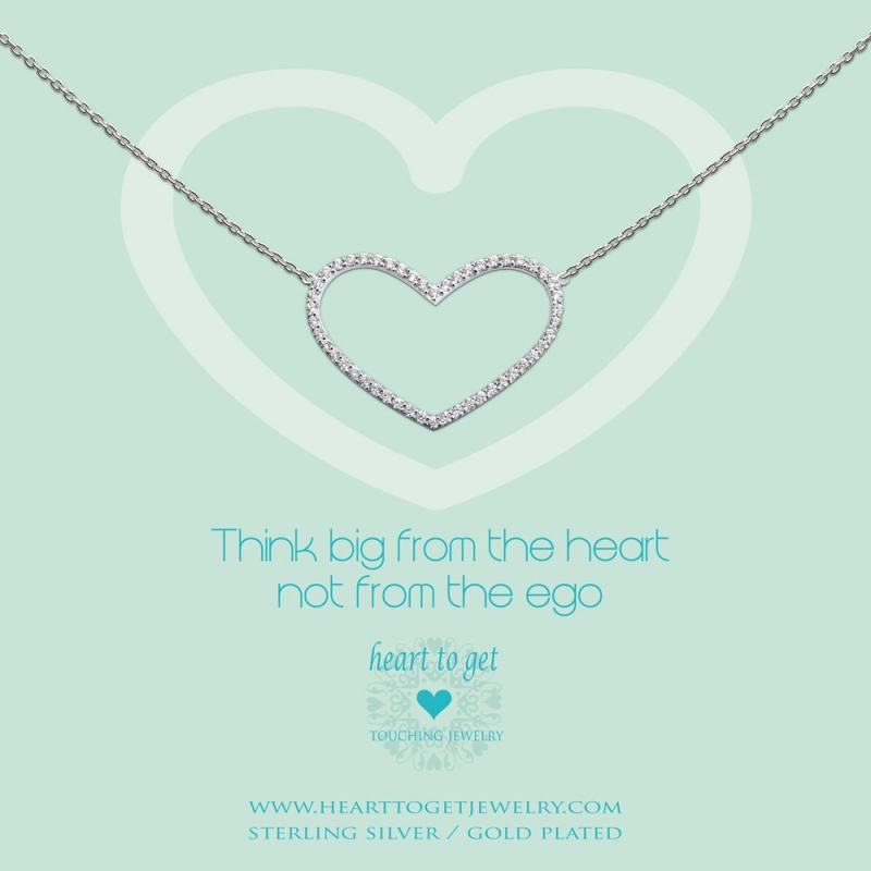 necklace heart zirkon straight - sparkle collection | heart to get