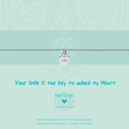 bracelet heart lock