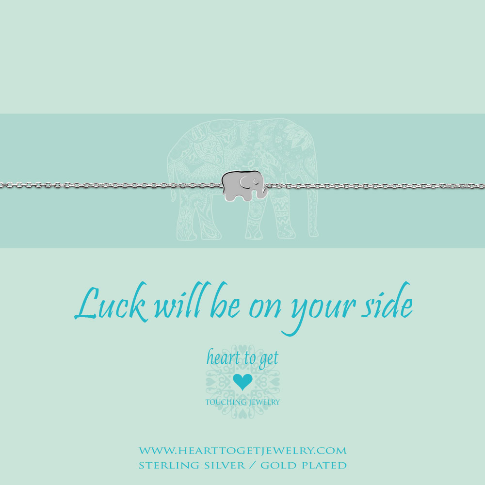 "bracelet elephant, ""Luck will be on your side"", silver, gold plated & rose plated, €39,95-€49,95, Classic collection, Heart to Get Jewelry"