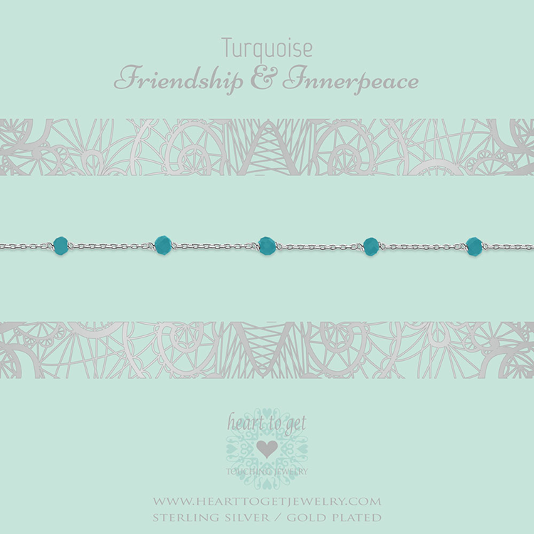 Bracelet multiple gemstones Turquoise
