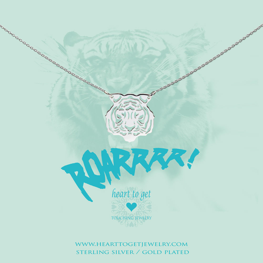 Necklace filligree tiger