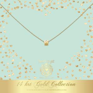 14K Gold Cube Initials
